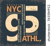 new york brooklyn sport wear ... | Shutterstock .eps vector #563584912