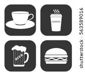 drinks and food icons vector... | Shutterstock .eps vector #563589016