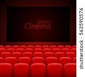 movie cinema premiere poster... | Shutterstock .eps vector #563590576