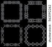 set square ornamental... | Shutterstock .eps vector #563592262