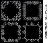 set square ornamental... | Shutterstock .eps vector #563592316