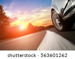 the car moves at fast speed at... | Shutterstock . vector #563601262
