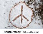 hippie  peace symbol  in the... | Shutterstock . vector #563602312