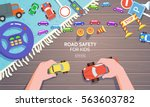 road safety for kid template in ... | Shutterstock .eps vector #563603782
