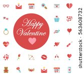 happy valentine's day vector... | Shutterstock .eps vector #563608732