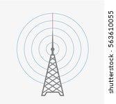 radio tower icon. radio day... | Shutterstock .eps vector #563610055