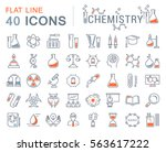 set vector line icons  sign and ... | Shutterstock .eps vector #563617222