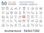 set vector line icons  sign and ... | Shutterstock .eps vector #563617282