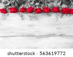 valentines day background with... | Shutterstock . vector #563619772