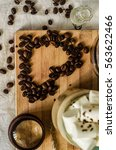 Small photo of Romantic heartfelt recognition with coffee beans