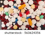 Heap Of Medicine Tablets And...