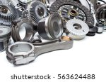 group automobile engine parts...   Shutterstock . vector #563624488