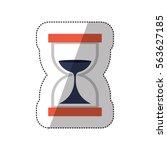 hourglass antique clock | Shutterstock .eps vector #563627185