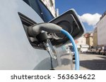 power supply for electric car... | Shutterstock . vector #563634622