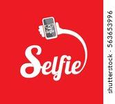 taking selfie photo on smart...   Shutterstock .eps vector #563653996