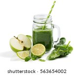 Green Smoothie With  Spinach ...