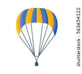 parachute vector illustration... | Shutterstock .eps vector #563654122