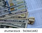 pile of pharmaceutical drug and ... | Shutterstock . vector #563661682