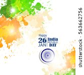 india republic day celebration. ... | Shutterstock .eps vector #563662756