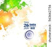 india republic day celebration. ... | Shutterstock .eps vector #563662756