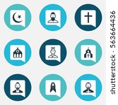 set of 9 editable faith icons....