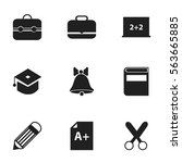 set of 9 editable knowledge... | Shutterstock . vector #563665885