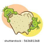 bad germs destroying tooth... | Shutterstock .eps vector #563681368