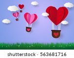 Hot Air Balloons In A Heart...