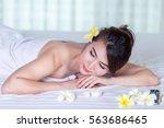 spa beauty skin treatment woman ... | Shutterstock . vector #563686465