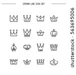 crown flat icon set. collection ... | Shutterstock .eps vector #563695006