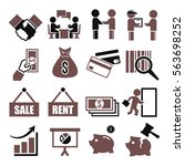 deal  trade  purchase icon set | Shutterstock .eps vector #563698252
