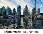 scenic view on the marina in... | Shutterstock . vector #563704786