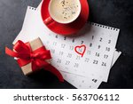 valentines day greeting card.... | Shutterstock . vector #563706112