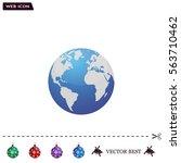 world globe vector illustration. | Shutterstock .eps vector #563710462