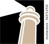 lighthouse icon logo | Shutterstock .eps vector #563711932