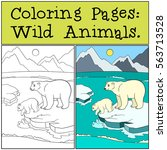 coloring pages  wild animals.... | Shutterstock .eps vector #563713528