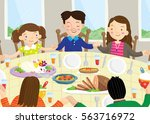 vector illustration of people... | Shutterstock .eps vector #563716972