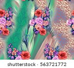 colorful background print design | Shutterstock . vector #563721772