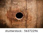 Wine Barrel Wooden Knot Peep...