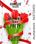 party poster for women's day.... | Shutterstock .eps vector #563723452
