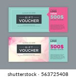 gift voucher template.   Shutterstock .eps vector #563725408