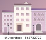 colorful building illustration. | Shutterstock .eps vector #563732722