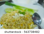 fired rice with meat crab | Shutterstock . vector #563738482