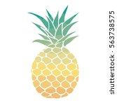 pineapple vector illustration | Shutterstock .eps vector #563738575
