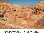 arizona wave   famous geology... | Shutterstock . vector #563756362