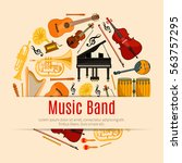 music band poster of vector... | Shutterstock .eps vector #563757295