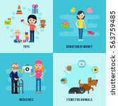 charity flat concept with...   Shutterstock .eps vector #563759485