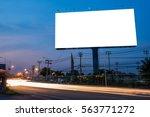 blank billboard for... | Shutterstock . vector #563771272