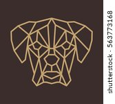 stylized polygonal dog head... | Shutterstock .eps vector #563773168