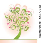 decorative tree | Shutterstock .eps vector #56377753